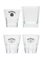 Jack Daniel's Old No.7 Brand Whiskey Tumblers  7.5cm & 9cm Tall