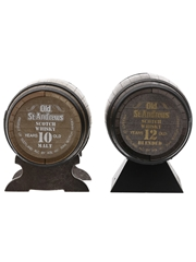 Old St Andrews 10 Year Old & 12 Year Old Barrel Miniatures  2 x 5cl / 40%