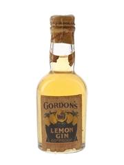 Gordon's Lemon Gin Spring Cap Bottled 1940s-1950s 5cl / 34%