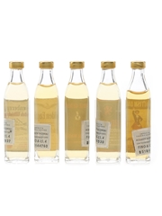 Assorted Novelty Blended Whisky Bottled 1970s 5 x 1.1cl / 40%