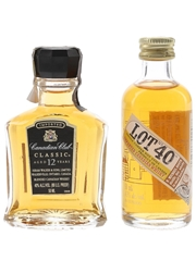 Canadian Club 12 Year Old & Lot No.40  2 x 5cl