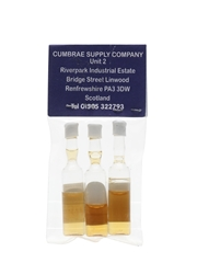 Dalmore, Glengoyne & Old Fettercairn The World's Smallest Bottles Of Whisky 3 x <1cl