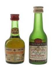 Courvoisier & Denis Mounie Bottled 1970s & 1980s 3cl & 5cl / 40%