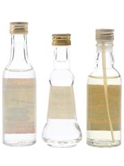 Keglevich, Polmos, Stolichnaya Vodka Bottled 1970s-1980s 3 x 5cl