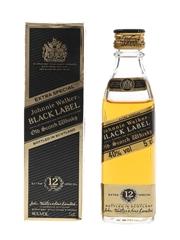 Johnnie Walker 12 Year Old Black Label Bottled 1980s 5cl / 40%