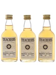 Teacher's Highland Cream Bottled 1970s 3 x 5.6cl / 40%