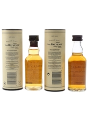 Balvenie 10 Year Old Founder's Reserve & 12 Year Old Doublewood Bottled 1990s & 2000s 2 x 5cl / 40%