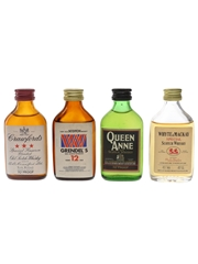 Crawford's, Grendel's, Queen Anne & Whyte & Mackay Bottled 1970s & 1980s 4 x 3.7cl-5cl