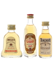 Bell's, Grant's & Teacher's Bottled 1980s 3 x 5cl / 40%