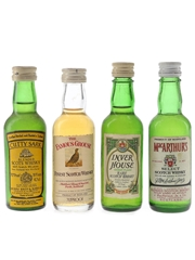 Cutty Sark, Famous Grouse, Inver House & MacArthur's Bottled 1970s 4 x 4.7cl-5cl / 40%