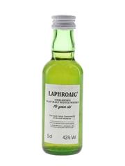 Laphroaig 10 Year Old Unblended Bottled 1980s 5cl / 43%