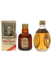 Dimple & Old Parr Bottled 1970s & 1980s 2 x 5cl