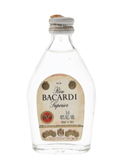 Bacardi Carta Blanca Bottled 1980s - Brazil 5cl / 40%