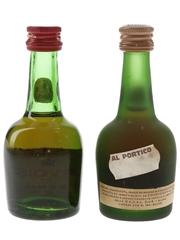 Courvoisier Napoleon & 3 Star Luxe Bottled 1970s - Cedal 2 x 3cl / 40%
