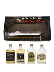A Scotch Tour Bottled 1970s - Glen Scotia, Ardbeg, Tamnavulin & Auchentoshan 4 x 4.7cl-5cl