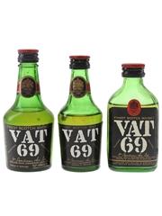 Vat 69 Bottled 1970s-1980s 3 x 5cl