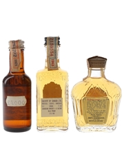 Canadian Club, Canadian Lord Calvert & Crown Royal Bottled 1960s & 1970s 3 x 4.7cl-5cl