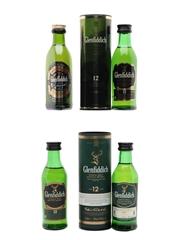 Glenfiddich Pure Malt & 12 Year Old  4 x 5cl / 40%