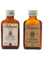 Ballantine's Finest Bottled 1970s & 1980s 2 x 4.7cl-5cl / 40%