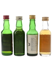 Black Bottle, Cutty Sark, Inver House & Langs Supreme Bottled 1970s 4 x 4.7cl-5cl / 40%