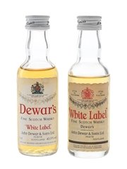 Dewar's White Label Bottled 1970s & 1980s 2 x 5cl