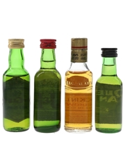 Cream of Glenlivet, Justerini & Brooks, Mackinlay's And Queen Anne Bottled 1970s 4 x 5cl