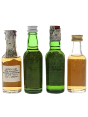 Chivas Regal, Cutty Sark, Hedges Butler & Seagram's 100 Pipers Bottled 1960s-1980s 4 x 4.6cl-5cl
