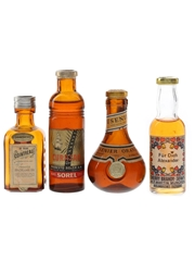Assorted Liqueurs Bottled 1960s-1970s 4 x 3cl