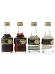 Marie Brizard Liqueurs Bottled 1970s 4 x 5cl