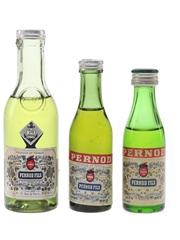 Pernod Fils Bottled 1950s-1970s 3 x 2.3cl-5cl
