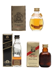 Dimple, Grand Old Parr & Johnnie Walker Black Label  3 x 5cl / 40%