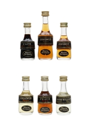 Marie Brizard Liqueurs Bottled 1970s 6 x 2.9cl-5cl