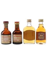 Drambuie & Glayva Bottled 1970s-1980s 4 x 5cl / 40%