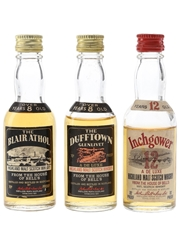 Blair Athol, Dufftown & Inchgower Bottled 1970s - Arthur Bell & Sons 3 x 5cl / 40%