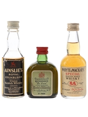 Ainslie's, Buchanan's And Whyte & Mackay Bottled 1960s-1970s 3 x 5cl / 40%
