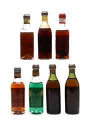 Keo Liqueurs, Wine & Vermouth Bottled 1930s-1940s 7 x 5cl