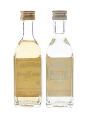 Jose Cuervo Tequila Bottled 1980s-1990s 2 x 5cl / 38%