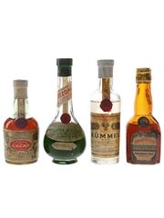Cusenier & Marie Brizard Liqueurs Bottled 1940s-1950s 4 x 5cl