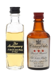 Antiquary & Crawford's Bottled 1970s 2 x 5cl / 40%