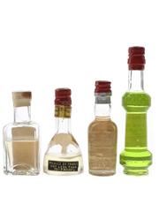 Garnier & Combier Liqueurs Bottled 1940s-1950s 4 x 3cl