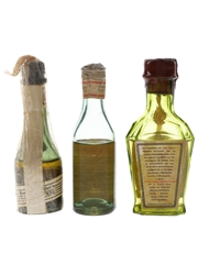 Assorted French Liqueurs Bottled 1940s-1950s 3 x 3cl
