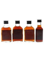 Captain Morgan Black Label Bottled 1970s & 1980s 4 x 5cl / 40%