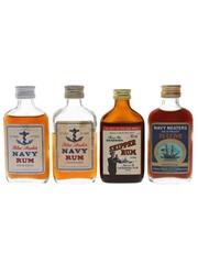 Assorted Demerara Rum Bottled 1960s & 1970s 4 x 5cl