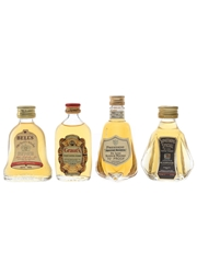 Bell's, Grant's, President & Something Special Bottled 1970s-1980s 4 x 4.7cl-5cl