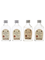 Bacardi Carta Blanca Bottled 1960s-1970s - Bahamas 4 x 5cl / 40%