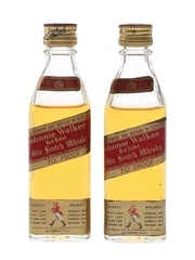 Johnnie Walker Red Label Bottled 1970s 2 x 5cl / 40%