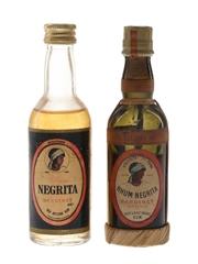 Bardinet Rhum Negrita Bottled 1950s & 1970s 2 x 5cl