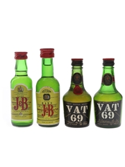J&B & Vat 69 Bottled 1960s & 1980s 4 x 5cl / 40%