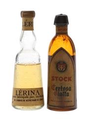 Certosa Gialla & Lerina Bottled 1960s 2 x 5cl
