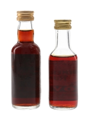 OVD Old Vatted Demerara Rum Bottled 1980s - George Morton 2 x 5cl / 40%
